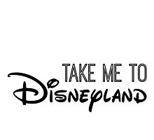 Take Me To Disneyland in black Photographic Print