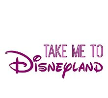 Take Me To Disneyland in purple Photographic Print
