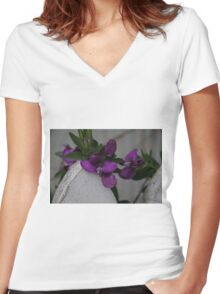 the white picket fence Women's Fitted V-Neck T-Shirt