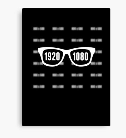 Glasses = HD white Canvas Print