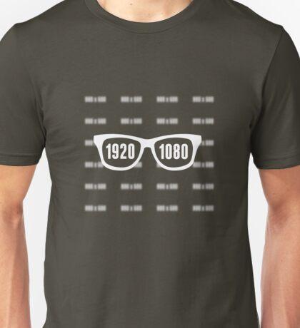 Glasses = HD white Unisex T-Shirt