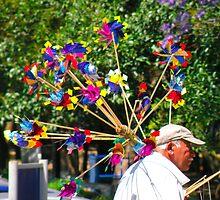 Pinwheel Peddler by Julio Herrera