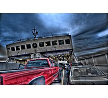 Red Truck on the Ferry Photographic Print