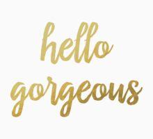 Hello Gorgeous Faux Gold Foil  Kids Tee