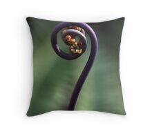 Hawaiian Fiddlehead Throw Pillow