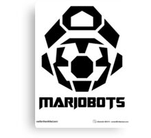 Mariobots! [Black (on red)] Canvas Print