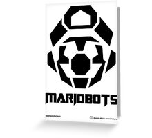 Mariobots! [Black (on red)] Greeting Card