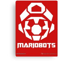 Mariobots! [White (on red)] Canvas Print