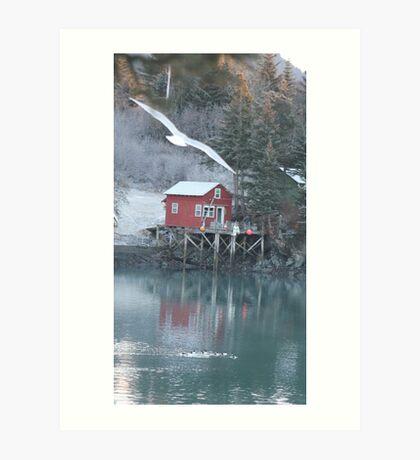 Halibut Cove, Alaska Art Print