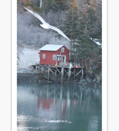 Halibut Cove, Alaska Sticker