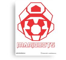 Mariobots! (Red Outline on White) Canvas Print