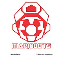 Mariobots! (Red Outline on White) Photographic Print