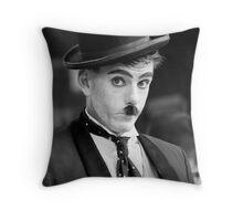A Portrait of Charlie Chaplin Throw Pillow