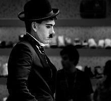 Charlie Chaplin _ BW by kael