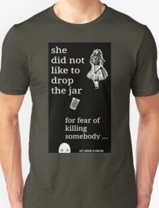Alice Dropping The Jar Down The Rabbit Hole T-Shirt