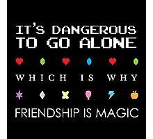 It's Dangerous Without Friends Photographic Print