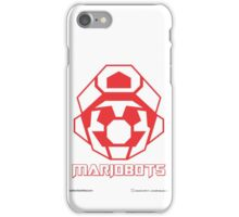 Mariobots! (Red Outline on White) iPhone Case/Skin