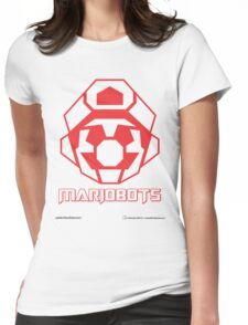 Mariobots! (Red Outline on White) Womens Fitted T-Shirt