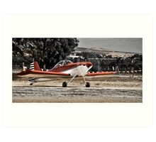 Plane at Aldinga Airport Art Print