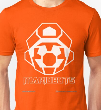 Mariobots! (White Outline on Red) Unisex T-Shirt