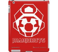 Mariobots! (White Outline on Red) iPad Case/Skin
