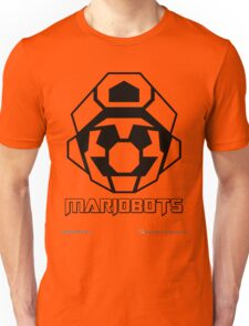 Mariobots! (Outline on red) Unisex T-Shirt