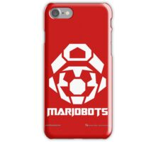 Mariobots! [White (on red)] iPhone Case/Skin