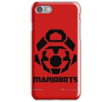 Mariobots! [Black (on red)] iPhone Case/Skin