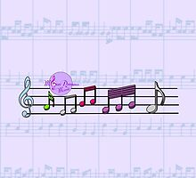 Soft Purple Sheet Music Notes by moondreamsmusic