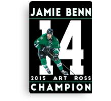 Jamie Benn 2015 Art Ross Champion Canvas Print