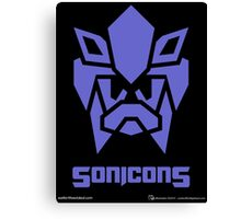 Sonicons! (BLUE) Canvas Print