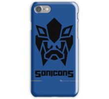 Sonicons! (Black on Blue) iPhone Case/Skin