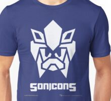 Sonicons! (White on Blue) Unisex T-Shirt