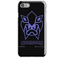 Sonicons! (Blue Outline on Black) iPhone Case/Skin