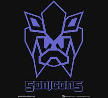 Sonicons! (Blue Outline on Black) Unisex T-Shirt
