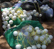 Fishing Equipment, Coastal Village South Of Hua Hin, Thailand. by Peter Stephenson