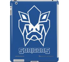 Sonicons! (White Outline on Blue) iPad Case/Skin