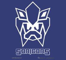 Sonicons! (White Outline on Blue) by MikePHearn