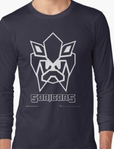 Sonicons! (White Outline on Blue) Long Sleeve T-Shirt