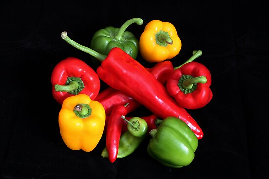 Mixed Peppers by AnnDixon
