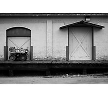 A Tractor and a Door  Photographic Print