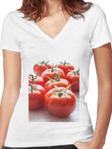 tomatoes Women's Fitted V-Neck T-Shirt