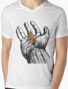 Peacefully Defiant Mens V-Neck T-Shirt