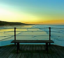 Saltburn Pier at Sunset. by Richard Leeson