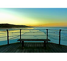 Saltburn Pier at Sunset. Photographic Print