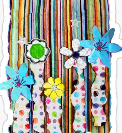 Cut n Paste Flowers Sticker