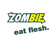 Zombie eat flesh. by monsterplanet