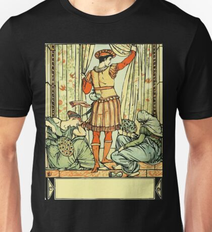 The Sleeping Beauty Picture Book Plate - He reached the guard, the court, the hall Unisex T-Shirt
