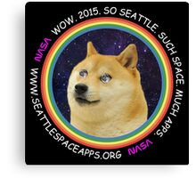 Seattle Space Apps 2015: doge design Canvas Print
