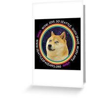 Seattle Space Apps 2015: doge design Greeting Card